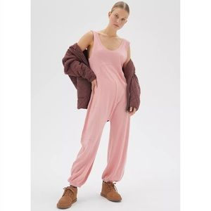 Out From Under Rowan Pink Sleeveless Jumpsuit NWT